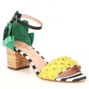 Kate Spade Wiatt Studded Pineapple block heels